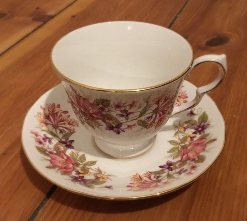 Harry Potter inspired grim floral cup and saucer