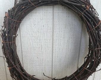 Birch Vine Wreath DIY Family Tree Birch Disk