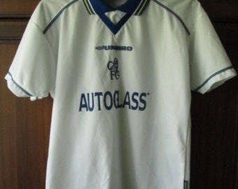 Vintage Chelsea Autoglass Umbro Boys White Football Soccer Jersey Shirt Size  158 Age 12-13 yrs Used Condition 83ab8a4c7