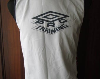 000b432687 Vintage Umbro Pro Training Mens White 100% Polyester Sleeveless T-Shirt  Size M Used Condition Made in Indonesia Worldwide Shipping