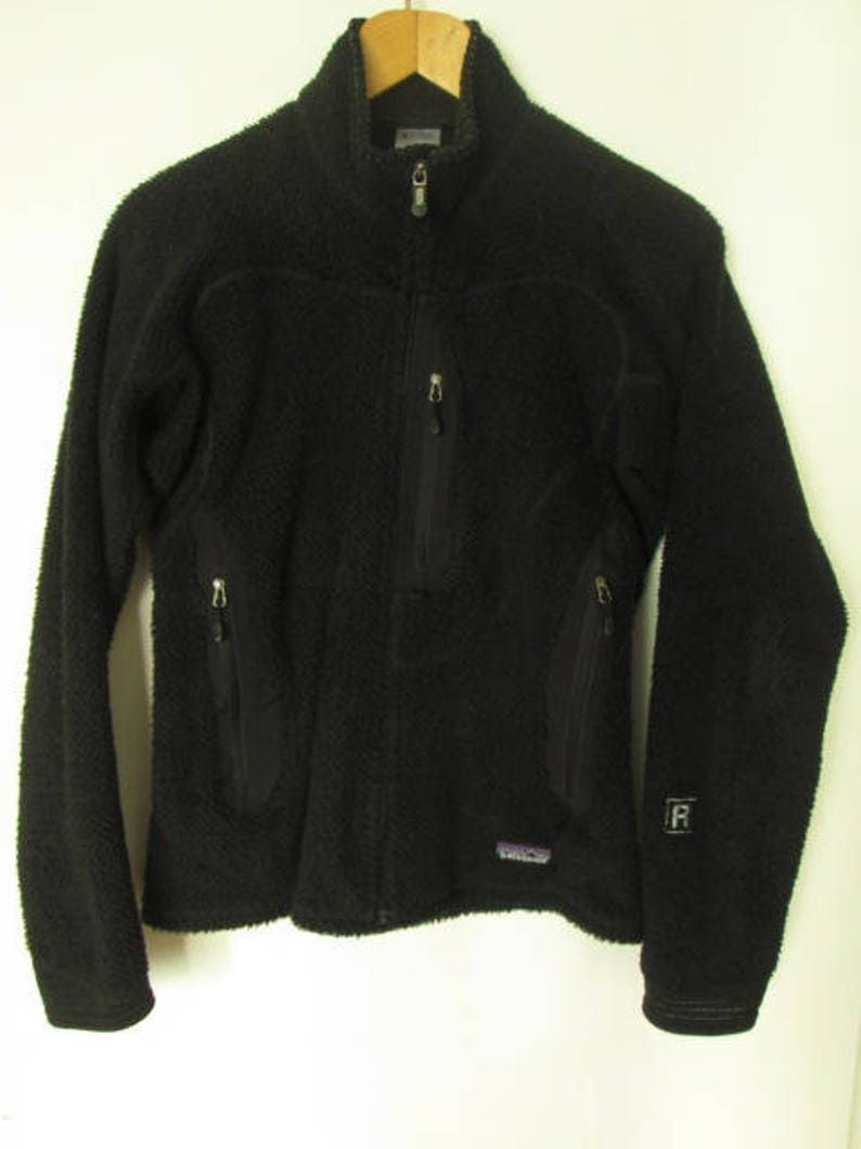 964dc5c96ae0 Patagonia Polartec Womens Black Fleece Jacket Coat Tag Size M