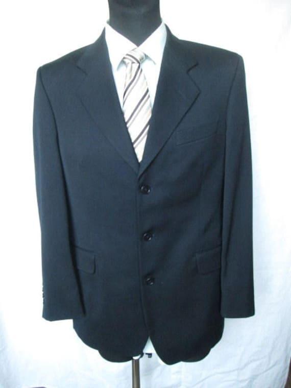 3da24556ec6 YSL Yves Saint Laurent Mens Black Jacket Blazer 3 Button Tag   Etsy