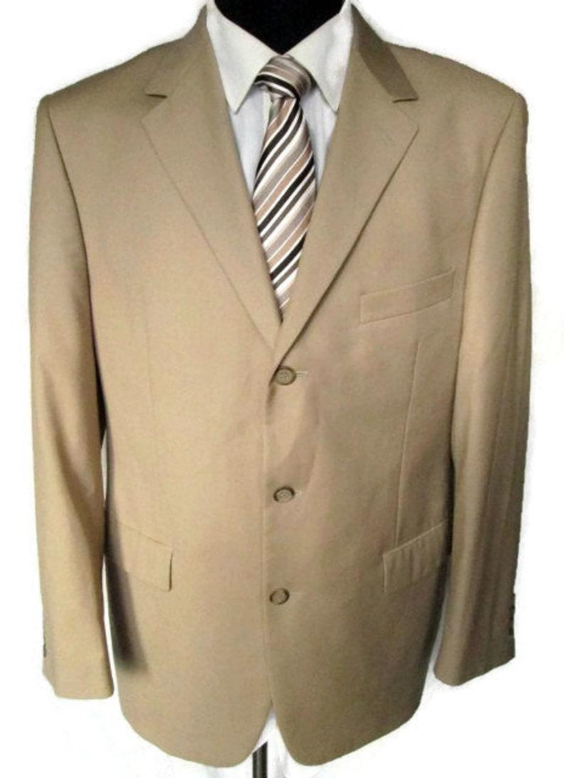 6b5cf8a472f YSL Yves Saint Laurent Mens Beige Light Brown Jacket Blazer 3   Etsy