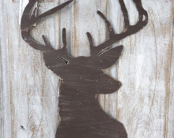 Metal Deer Head Door Hanger