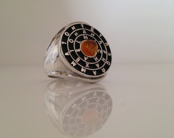 The Ring of Solomon Goetia Choice Of Stone Heavy Solid Silver!