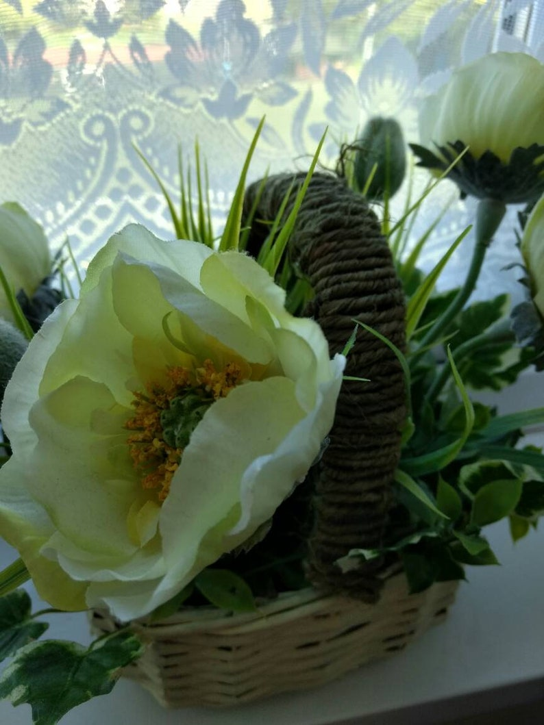 Poppy Flower Arrangement Etsy