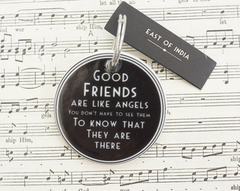 Good Friends Are Like Angels Keyring