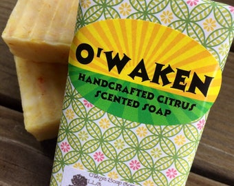 Grapefruit Soap, Pineapple & Orange Scented Soap, Citrus Scented Soap, Hot Processed Soap, Plant Based Soap, Vegan Soap, Turmeric Soap
