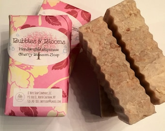 Japanese Cherry Blossom Soap, Vegan Cherry Blossom Soap, Rose Hip Soap, Red Morrocan Clay Soap, Spring Soap, Easter Gift, May Gift, Floral