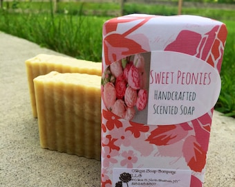 Peony Scented Soap, Peony Soap, Peonies Soap, Flower Scented Soap, Floral Soap, Moroccan Clay Soap, Flower Scented Soap, Flower Soap