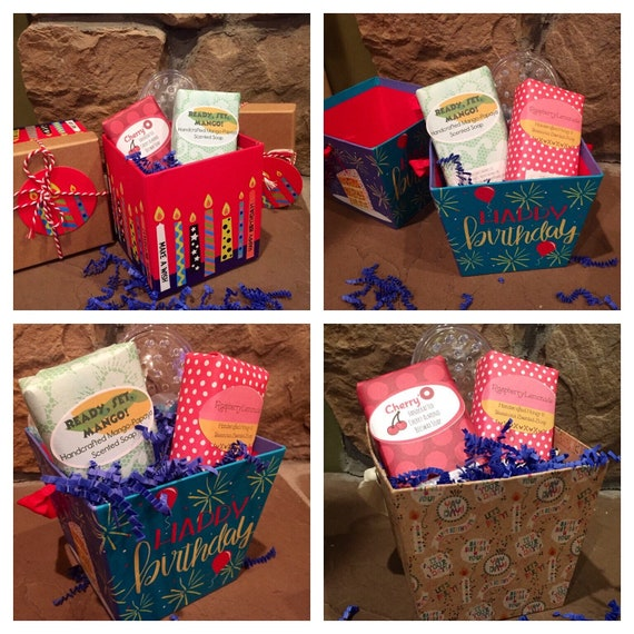 Happy Birthday Gift Boxes Soap Baskets