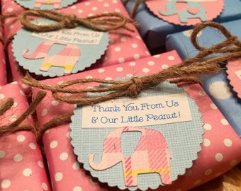 Elephant Baby Shower, Custom made Guest Soaps, Custom Soaps, Baby Girl Favor, Mini Soaps, Shower Favor Soaps, Elephant Soap Favors, Baby Boy