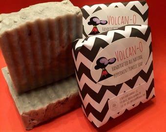 NEW! Pumice Soap, Gardeners Soap, Peppermint Soap, All Natural Pumice Soap, Volcano Soap, Lava Soap, Pumice & Peppermint Soap, Vegan Soap