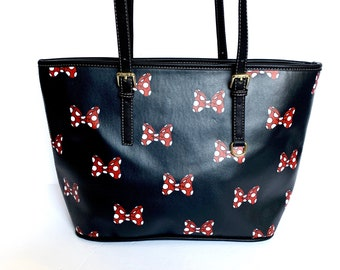 3e4b277a45a Minnie Mouse Bows Purse   Minnie Bow   Minnie Mouse Purse   Disney Tote Bag    Disney Purse   Disney Bag   Disneyland Purse