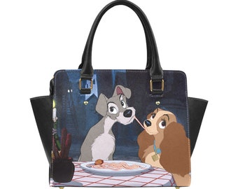 Lady and The Tramp Purse | Disney Purse | Disney Tote Bag | Disney Bag | Disney Shoulder Bag | Disneyland Bag | Disney Purse |