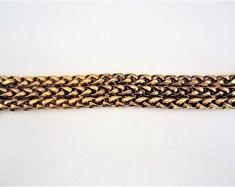 Vintage Butler & Wilson three chains bracelet, UK 1980