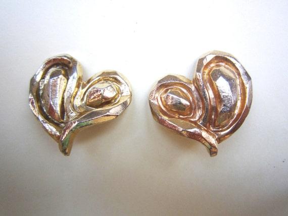 Vintage Emanuel Ungaro heart earrings, 1980's