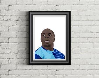 Adebayo Akinfenwa - Wycombe Wanderers FC - A4 Football Poster