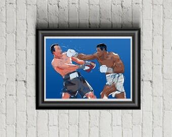 Anthony Joshua (AJ) vs Klitschko - Boxing - A4 Poster