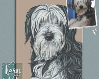 Custom pet portrait , Custom portrait from photo , Custom drawing , Gift for couples , Animals , Gift for , Photo into art