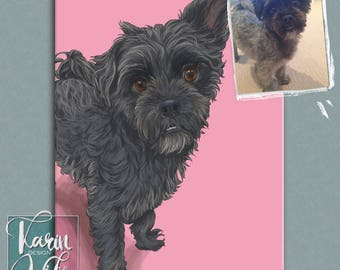 Three Pets Portrait. Detailed Pet Portraits. Custom portrait from photo. Custom drawing. Gift for couples. Animals. Gift for.