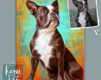 Custom pet portrait Detailed Portraits Personalized pets portrait. Portrait drawing. Custom illustration. Bespoke illustration.