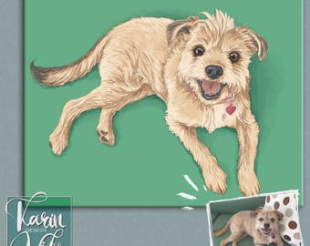 Pet Portrait Detailed Pet Portraits. Custom portrait from photo. Custom drawing. Gift for couples. Gift for.