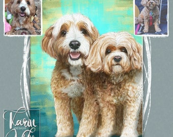 Custom Pet Portrait , Pet portrait ,  Detailed Pet Portraits ,  Custom portrait from photo , Custom drawing , Dog ,  Animals , Gift for.
