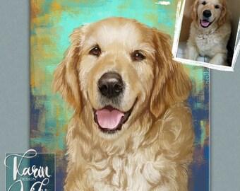 Custom pet portrait Boston Terrier Painting | Portrait from your photos | Custom portrait