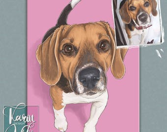 Custom pet portrait , Pet Portrait, Detailed Pet Portraits , Custom portrait from photo , Custom drawing , Gift for couples , Gift for