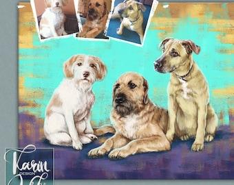 Pet Portrait, Custom Gift, Unique gif, Digital pet illustration, Cat Portrait, Dog Portrait, Gift Idea, Pet Portrait from your photo
