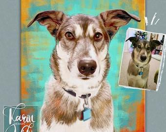 Custom pet portrait , Custom portrait from photo , Custom drawing , Christmas gift , Gift for couples , Animals , Gift for
