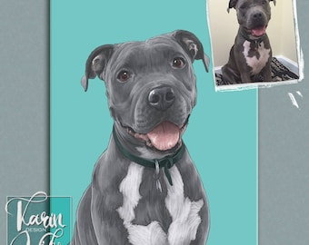 Pet family portraits. Custom dog portrait. Pet portraits. Custom portrait from photo. Custom drawing. Dog. Animals. Gift for.