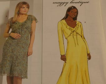 Butterick Pattern B4787 Misses  Jacket and Dress Size  14-16-18-20 Maggy  Boutique Unlined Jackets Sleeve Variations Bias Dress Front Ties 0e92940ec