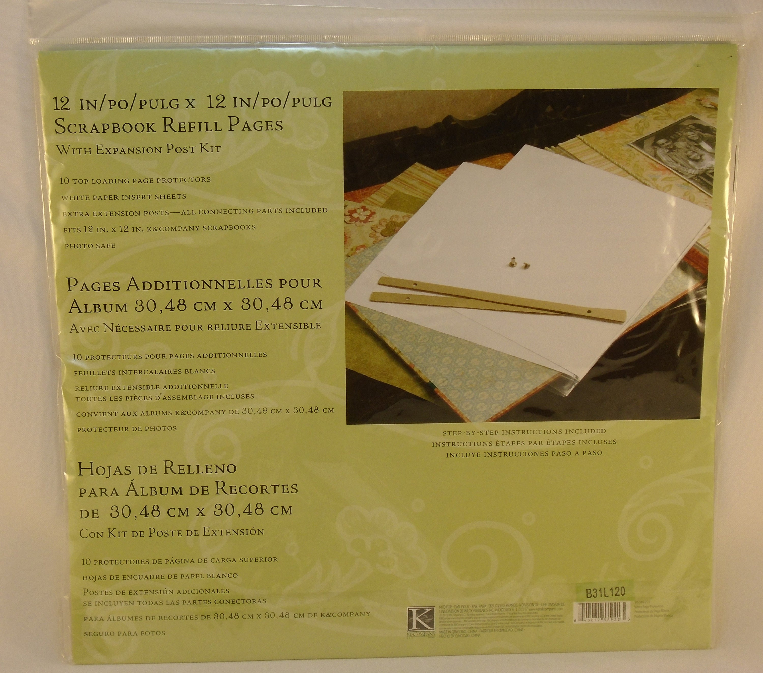 Kc Ompany Scrapbook Refill Pages 12x12 Inches Expansion Post Etsy