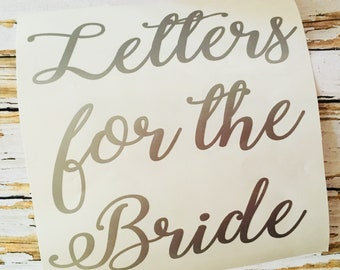 letters for the bride box decal wedding card box decals letter for the bride groom decal