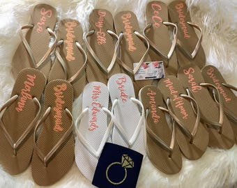 More Colors Bridal Party Flip Flops