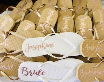 4e6c042041f46e Bridal party Flip Flops