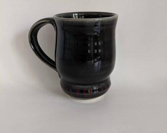 11oz Mug, Black Mug, Handmade Mug, Wheel Thrown Mug,