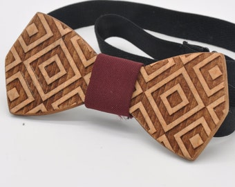 Bowtie wooden. Wooden bowtie. Modern Stylish wood bowtie for men. Use for wedding.Trend Man gift.Gift men accessories to holiday party.