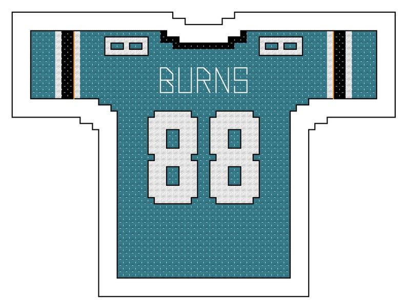 buy popular 90666 f7b5a Brent Burns San Jose Sharks Home Jersey