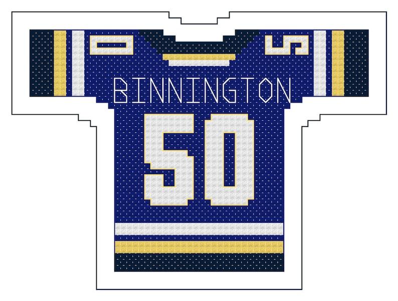 pretty nice e3799 95fdc Jordan Binnington St. Louis Blues Home Jersey