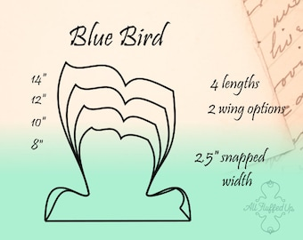 """BlueBird/4 Length Bundle/Cloth Pad Sewing Pattern/2.5"""" Snapped width"""