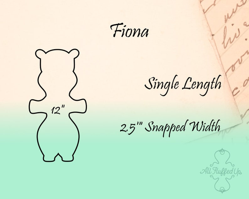 Fiona 12 LengthCloth Pad Sewing Pattern2.5 Snapped Width