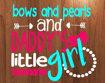 Bows and pearls daddys little girl svg, heaart svg, arrow svg file, tshirt mockup svg, onesie mockup svg cut file