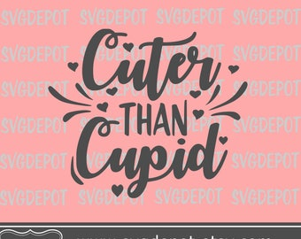 Cuter than cupid svg, Hugs and kisses yall, valentine svg, arrow svg file, tshirt mockup svg, onesie mockup svg cut file