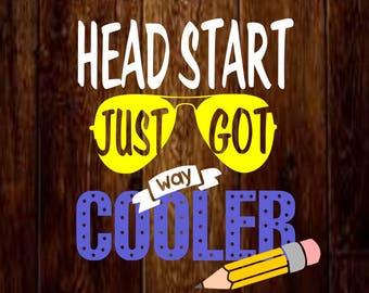 svg, headstart just got way cooler, teacher svg, mockup svg, teacher's appreciation svg, studio, design space, school svg