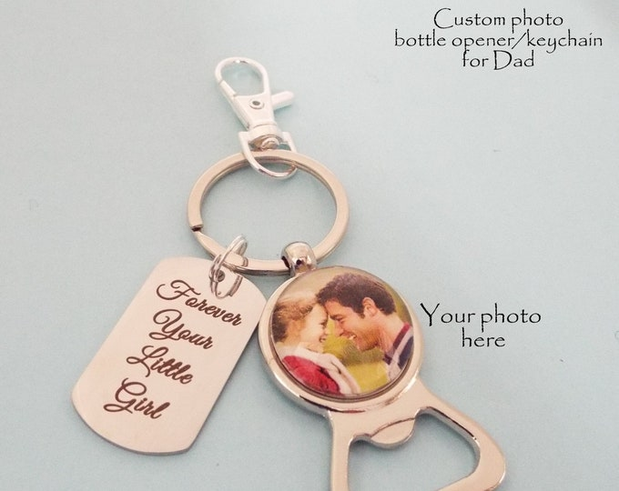 Christmas Gift for Dad, Daughter to Dad Gift, Personalized for Him, Father Gift from Child, Custom Keychain, Holiday Gift for Men