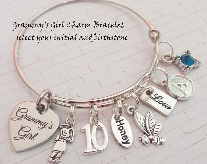 Gift Idea for Granddaughter, 10th Birthday Charm Bracelet, Happy Birthday Gift for 10 Year Old Girl, Happy 10th Birthday Gift, Gift for Girl