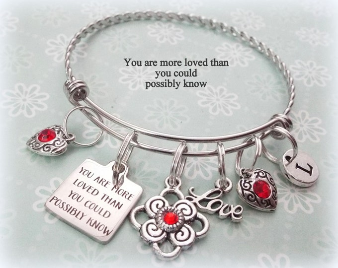You Are More Loved Than You Could Possibly Know, Women's Jewelry, Personalized Jewelry Gift for Daughter, Granddaughter Gift